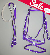 PVC Purple Hanoverian Eventing Beach Bridle & Reins Size Small Pony