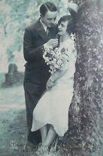 cpa art deco couple femme amour postcard lovers love woman cartolina donna carte