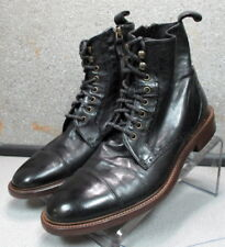 271385 PFiBT60 Mens Boots 13 M Black Leather Made in Italy Johnston Murphy