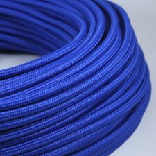 Cable Electrique Bleu Textile Tissu Rond CE 2*0,75mm Cloth Covered Electric Wire