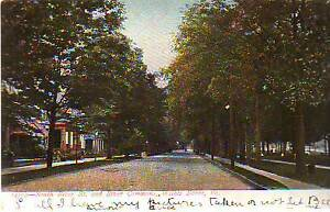 1908  Wilkes Barre -  South River Street and River Commons-Undivided German