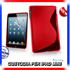 Pellicola + Custodia cover case WAVE ROSSA per IPAD Mini & 2 & 3