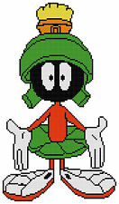 Counted Cross Stitch Pattern of Marvin The Martian - Free US Shipping
