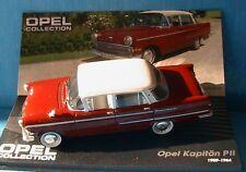 OPEL KAPITAN PII 1959 1964 IXO 1/43 WHITE ROOF ALTAYA TOIT BLANC
