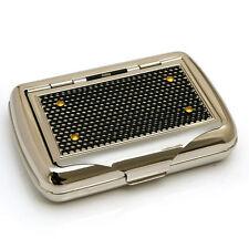 NEW metal tobacco box case cigarette holder black mesh #FY622-1