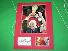 Fantastic Vicente del Bosque Signed Spain 2010 World Cup Winners Trophy Mount
