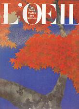 L'OEIL  Revue d'Art  N°303 octobre 1980 L'art japonais à Paris