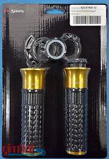 ProSports (abm) Handlebar Grips Gas Clutch Handle Aprilia Universal Gold ⌀