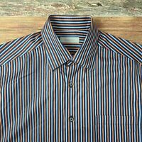 Recent Ermenegildo Zegna Men's Cotton Long Sleeve Button Down Shirt Sz Large