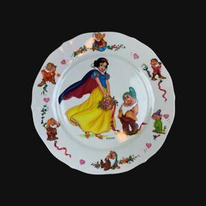 "Disney Snow White & Seven Dwarfs Vintage Melamine Scalloped Plate Selandia 9"""