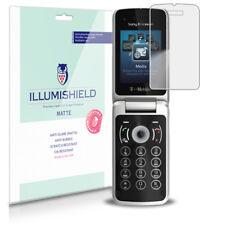 iLLumiShield Matte Screen Protector w Anti-Glare/Print 3x for Sony Ericsson T707