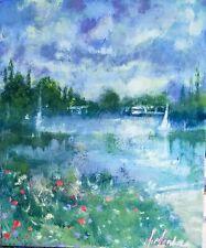 Original Mendoza impressionist Landscape british nature canvas art oil painting