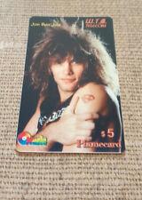 Jon Bon Jovi ~ W.T.B. telecom Music Rare Phone Card