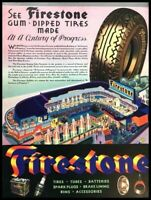 1933 Firestone Tire Tires Vintage Advertisement Print Art Car Ad Poster LG88