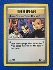 Team Rocket 1st Edition Here Comes Team Rocket! 71/82 - Pokemon Rare - Near Mint