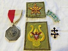 Mid-Century BOY SCOUT CONTEST MEDAL, '64 PATCH, RELIGIOUS PIN, MUSICIAN & STAR