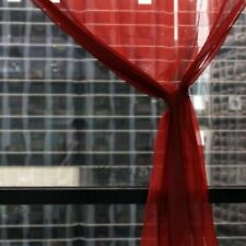 Rideaux et cantonnières voilage rouge en voile pour la maison