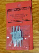 Details West HO #931 Code 83 Railbars, 6- & 4-Bolt pkg(36) -- ABS Plastic