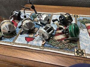 Lot of Vintage Zebco 33 Classic Johnson Bantam Bait Caster Daiwa Other