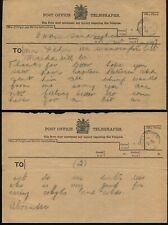 GB TELEGRAPH STATIONERY SANDRINGHAM NORFOLK QUEEN ALEXANDRA 1900/19 OHMS