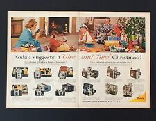 1959 Kodak 2 Page Camera Advertisement Christmas Movie Brownie Meter Print AD