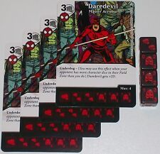 4 X DAREDEVIL: MASTER ACROBAT 44/142 The Amazing Spider-Man Dice Masters