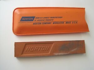 "Norton Whetstone in Orange Plastic 4"" x 3/4"""