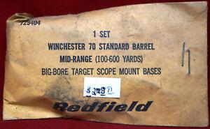 REDFIELD WINCHESTER 70 BARREL MID-RANGE BIG-BORE TARGET SCOPE MOUNT BASES, NEW!