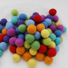 50 Handmade Felt Balls - 2.5cm -  Rainbow Colours