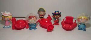 "Rare 2007 Disney Little Einsteins lot 5 Cowgirl Pirate sheriff PVC Figures 3"""