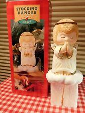Vintage Hallmark Praying Angel Stocking Hanger with Box 1980