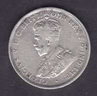 CB1348) Australia 1914 Florin VF condition, 6 pearls visible