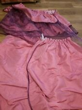 Pair of pink frilly curtains. 145-200 cm drop.