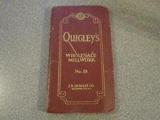 1940 J.R. Quigley Co Gloucester City Nj Millwork Catalog Building Materials Vtg
