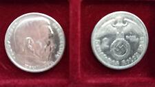 """2 Reichsmark Silber, 60 Stück, Drittes Reich """"Hindenburg"""" 1936-39, s.g. Zustand"""