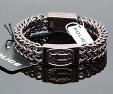 Chain Bracelet - 7 7/8in Police Pj25693Bsebr-03-S P-Link Stainless Steel Curb