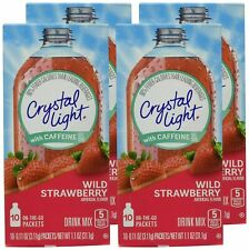 Crystal Light On The Go Wild Strawberry , 10 Packets (Pack of 4)
