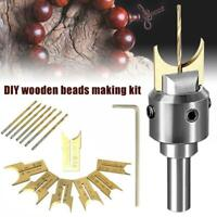 PREMIUM BEADS DRILL BIT Beads Drill Bit Wooden Bead Maker Milling Set