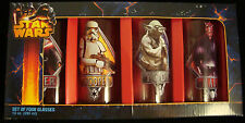 STAR WARS GLASSES-SETOF 4-10 OZ.-YODA-DATH MAUL&VADER-STORM TROOPER-NEW-BOXED~!~