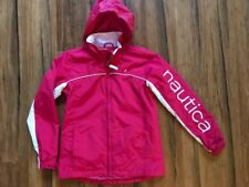 Girls Pink Nautica Jacket with Roll Up Hood  Size 8
