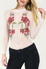 Embroidered Long Sleeve Plus Size Tops & Shirts for Women