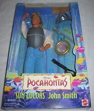 "Disney Pocahontas ""Sun Colors"" JOHN SMITH  in Original Box~1995 Mattel NRFB"