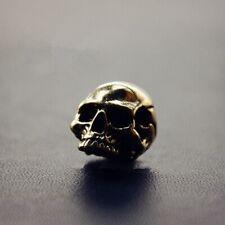 Handmade Brass Skull Beads Keychain Pendant Key Ring Gift