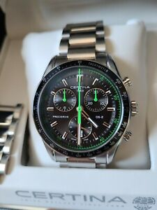 Certina DS-2 Precidrive Thermocompensated chronograph. Swiss watch. Quartz. 41mm