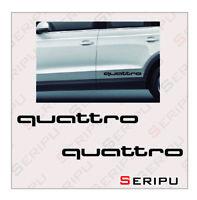 X2 DECAL LOGO AUDI QUATTRO  VINILO RECORTE PEGATINA COCHE TUNING STYLING