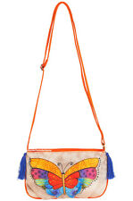Laurel Burch Butterfly Small CrossBody Tote Bag Multi-Color Flutterbye New