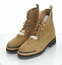 I49 NEW $249 Women's Sz 10 M Marc Fisher Izzie Genuine Shearling Lace-Up Boot