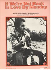 "MERLE HAGGARD ""IF WE'RE NOT BACK IN LOVE BY MONDAY"" SHEET MUSIC-1976-RARE-NEW!!"