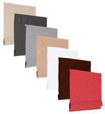 BASIC Cortina Romana Estor plegable Antracita Gris Blanco CHOCO Rojo Beige Mocca