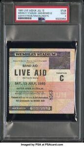 1985 LIVE AID CONCERT TICKET PSA July 13 UK Queen U2 Bowie Who Sting Elton John